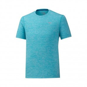 MIZUNO Tee-Shirt manches courtes IMPULSE CORE Homme   Peacock Blue   Collection Printemps-Été 2019