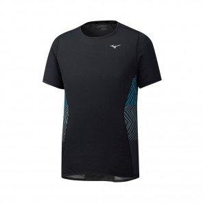 MIZUNO Tee-Shirt manches courtes AERO PREMIUM Homme   Black   Collection Printemps-Été 2019
